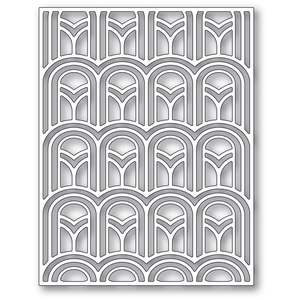 Poppy Stamps ARCHED DECO PLATE Die 2410 zoom image