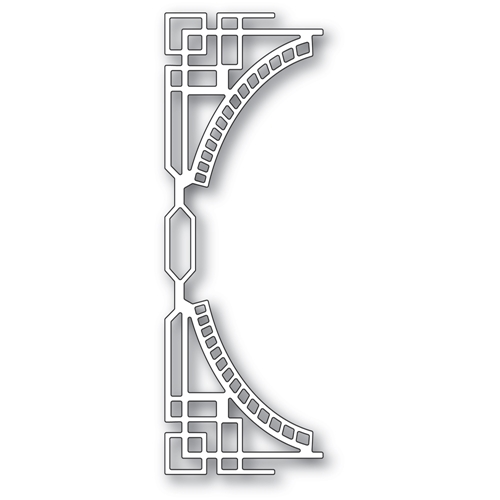 Poppy Stamps ART DECO CURVE BORDER Die 2408 Preview Image