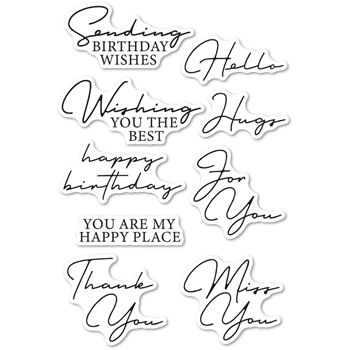 Memory Box Clear Stamps SIGNATURE GREETINGS cl5272