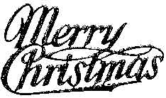 Tim Holtz Rubber Stamp MERRY CHRISTMAS 2 Stampers Anonymous K3-1447