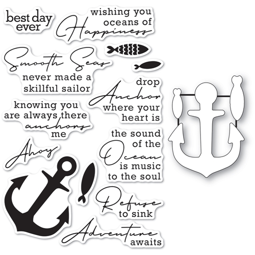 Memory Box YOU ANCHOR ME Clear Stamp and Die Set cl5269d Preview Image
