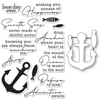 Memory Box YOU ANCHOR ME Clear Stamp and Die Set cl5269d