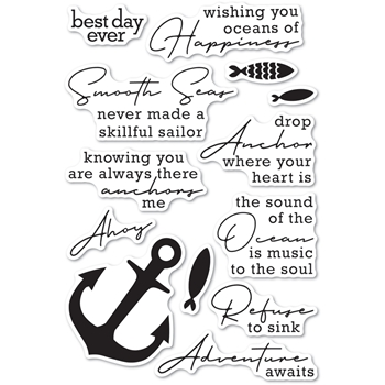 Memory Box Clear Stamps YOU ANCHOR ME cl5269