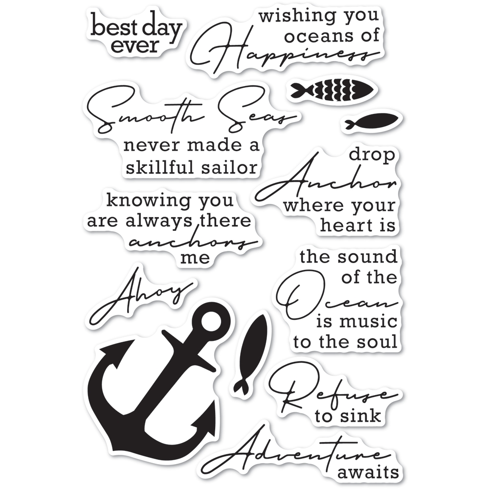 Memory Box Clear Stamps YOU ANCHOR ME cl5269 zoom image