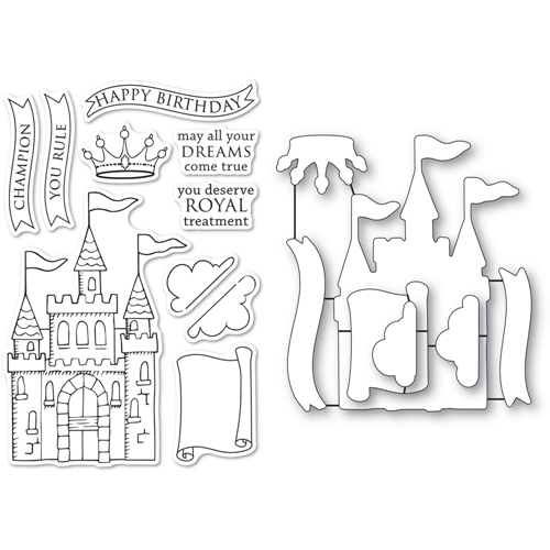 Memory Box MAJESTIC ACHIEVEMENTS Clear Stamp and Die Set cl5267d Preview Image