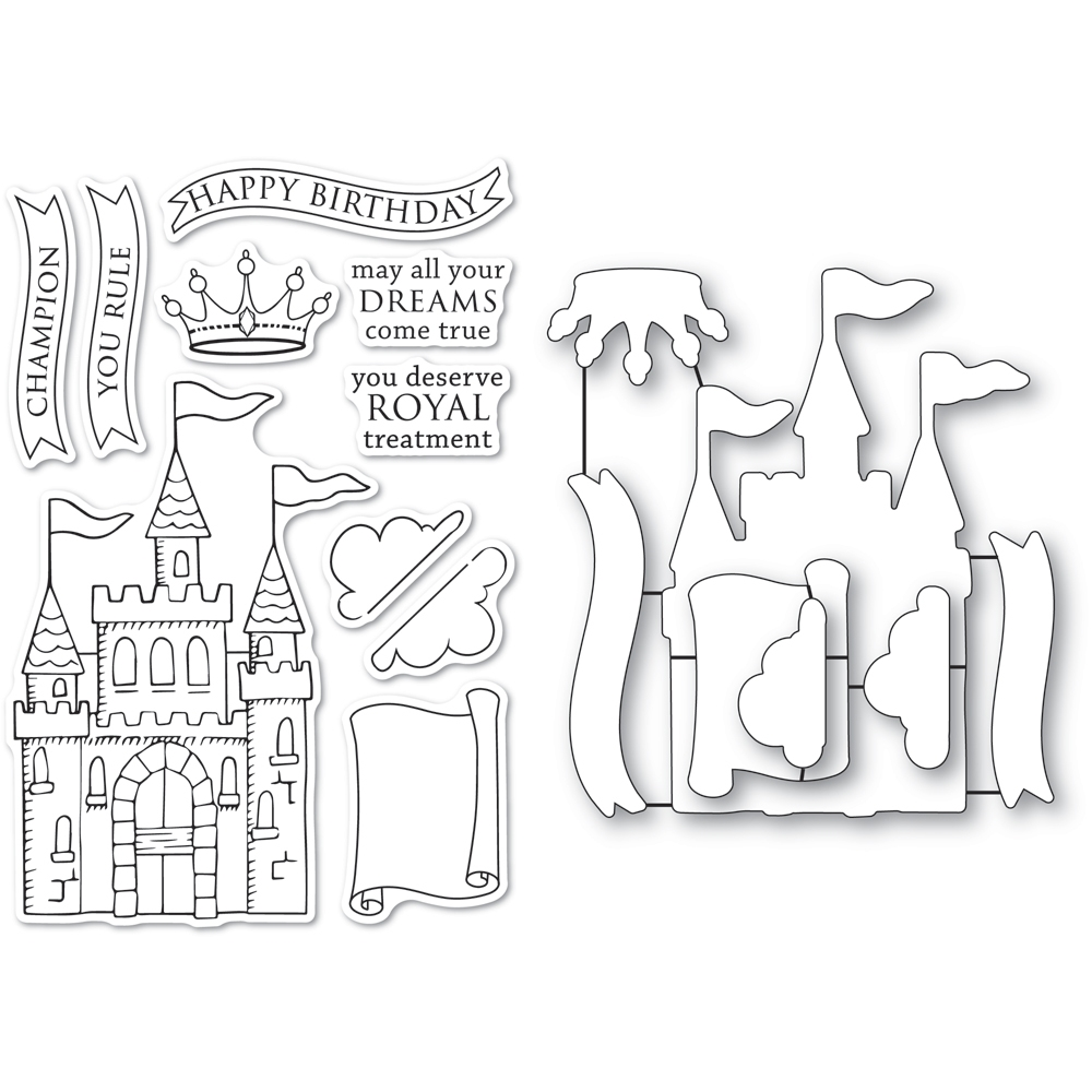 Memory Box MAJESTIC ACHIEVEMENTS Clear Stamp and Die Set cl5267d zoom image