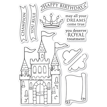 Memory Box Clear Stamps MAJESTIC ACHIEVEMENTS cl5267