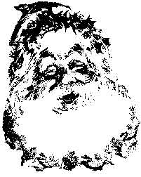 Tim Holtz Rubber Stamp SANTA'S SMILE Claus Christmas Stampers Anonymous M4-1450 Preview Image