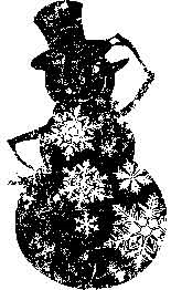 Tim Holtz Rubber Stamp BLUSTERY Snowman Stampers Anonymous M1-1449 Preview Image