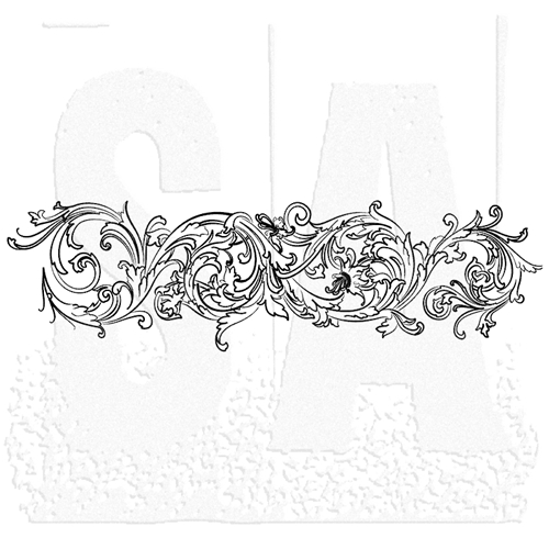 Tim Holtz Rubber Stamp FLOURISH 2 U7-1461 * Preview Image