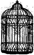 Tim Holtz Rubber Stamp THE CAGE Bird Birdcage Stampers Anonymous M3-1457 zoom image