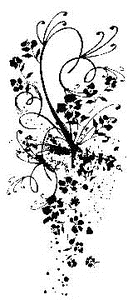 Tim Holtz Rubber Stamp FLORAL SWIRL Flower Stampers Anonymous P2-1459 zoom image