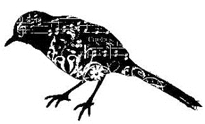 Tim Holtz Rubber Stamp THE SONGBIRD Stampers Anonymous P4-1460