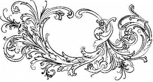 Tim Holtz Rubber Stamp FLOURISH 1 V3-1462 zoom image