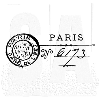Tim Holtz Rubber Stamp PARIS MARK Post E2-1463
