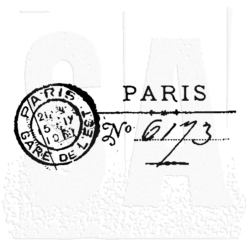 Tim Holtz Rubber Stamp PARIS MARK Post Stampers Anonymous E2-1463 zoom image
