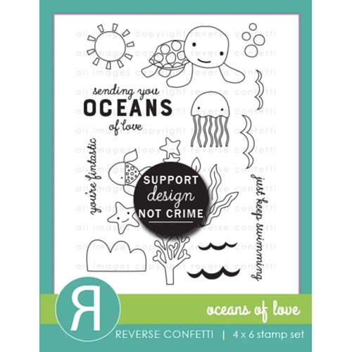 Reverse Confetti OCEANS OF LOVE Clear Stamps Preview Image
