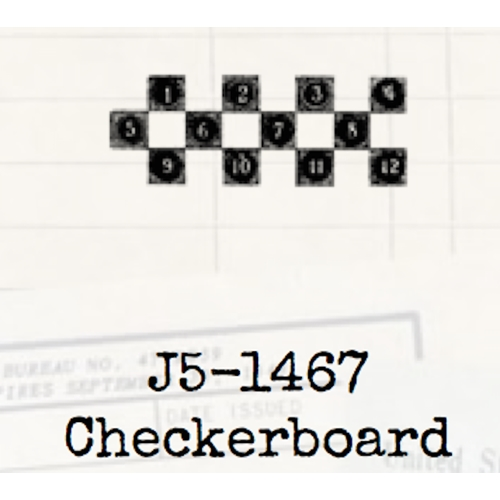 Tim Holtz Rubber Stamp CHECKERBOARD Game Stampers Anonymous J5-1467 Preview Image