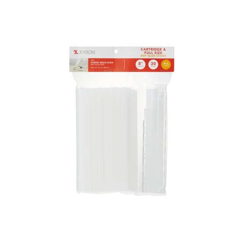Xyron 8 INCH Full Size MULTI-STICK Cartridge and Hot Glue Sticks 30 Pack x627243 Preview Image
