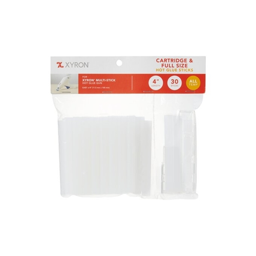 Xyron 4 INCH Full Size MULTI-STICK Cartridge and Hot Glue Sticks 30 Pack x627244 Preview Image
