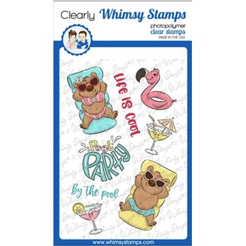 Whimsy Stamps LIFE IS COOL Clear Stamps KHB101a