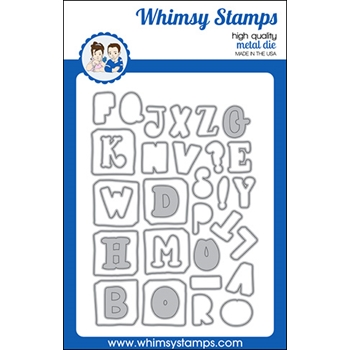 Whimsy Stamps QUIRKY ABC Dies WSD554