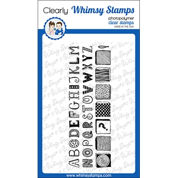 Whimsy Stamps QUIRKY ABC Clear Stamps CWSD379