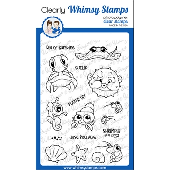 Whimsy Stamps UNDER THE SEA Clear Stamps CWSD381