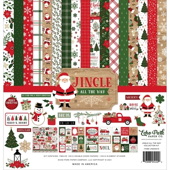 Echo Park JINGLE ALL THE WAY 12 x 12 Collection Kit jin252016