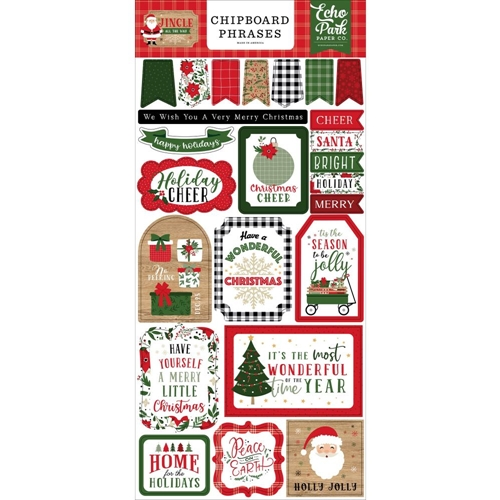 Echo Park JINGLE ALL THE WAY Chipboard Phrases jin252022 Preview Image
