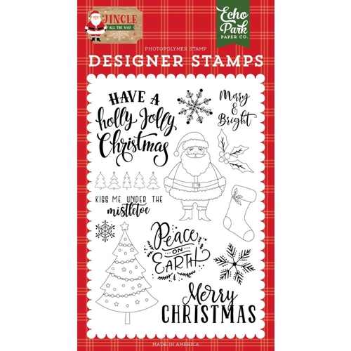 Echo Park HOLLY JOLLY CHRISTMAS Clear Stamps jin252043 Preview Image
