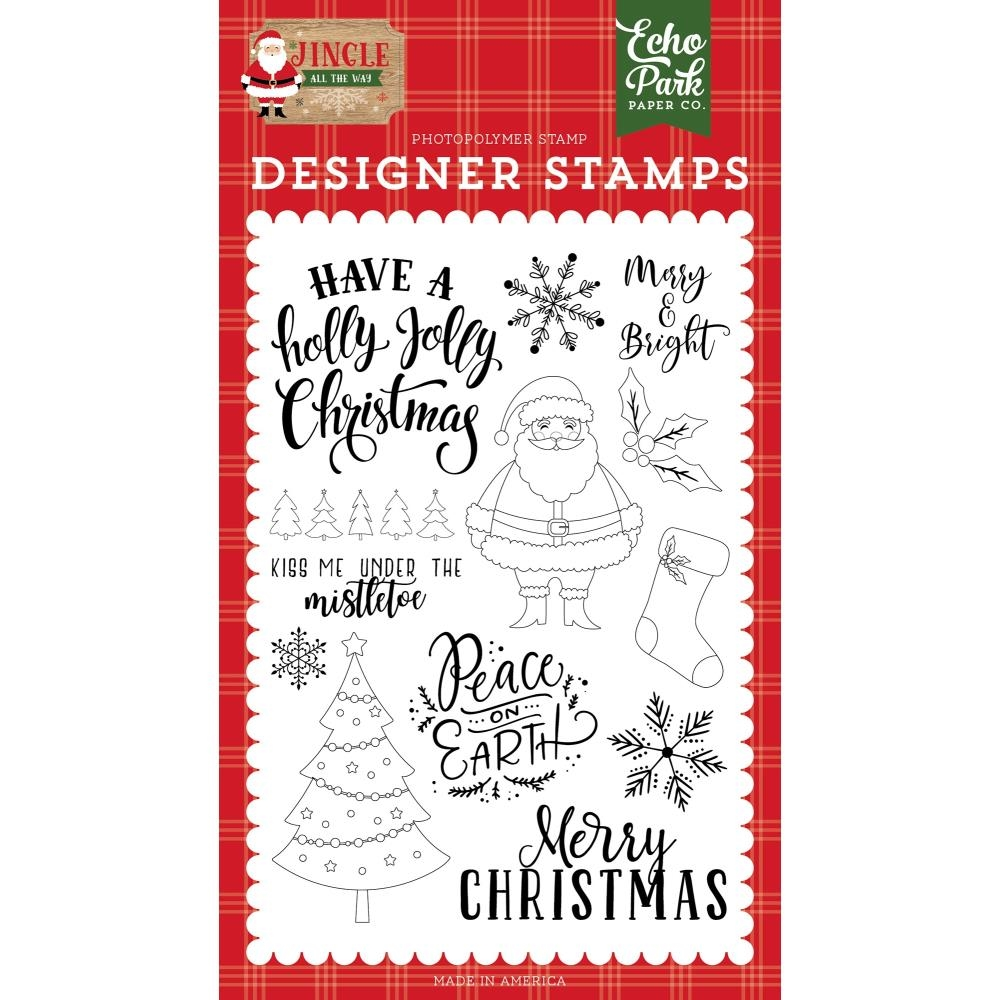 Echo Park HOLLY JOLLY CHRISTMAS Clear Stamps jin252043 zoom image