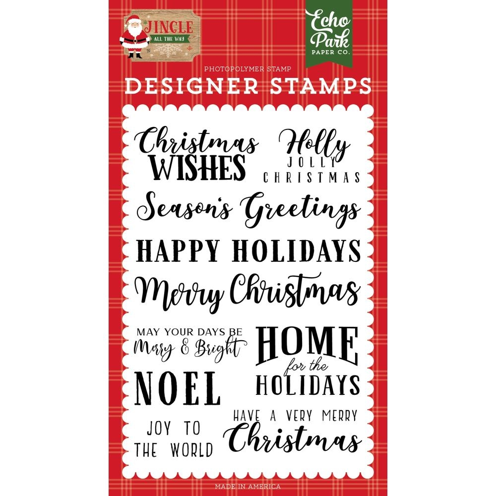 Echo Park CHRISTMAS WISHES Clear Stamps jin252044 zoom image
