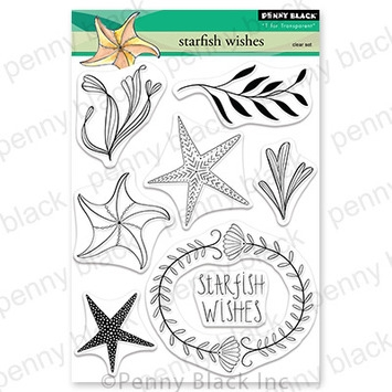 Penny Black Clear Stamps STARFISH WISHES 30-847 zoom image