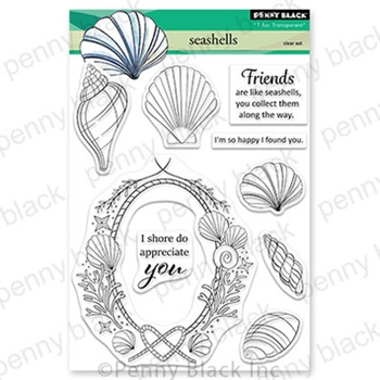 Penny Black Clear Stamps SEASHELLS 30-843