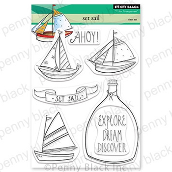 Penny Black Clear Stamps SET SAIL 30-842