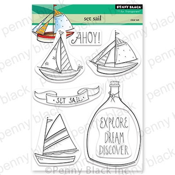 Penny Black Clear Stamps SET SAIL 30-842 zoom image