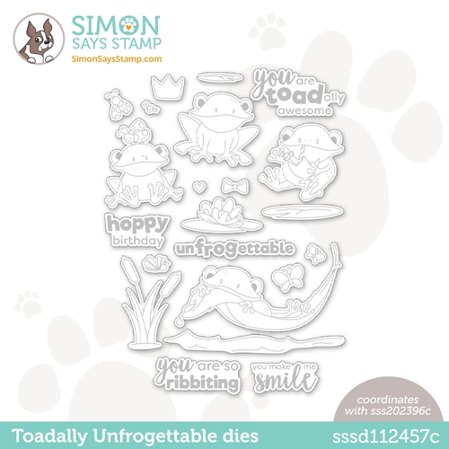 Simon Says Stamp TOADALLY UNFROGETTABLE Wafer Dies sssd112457c Make Magic Preview Image