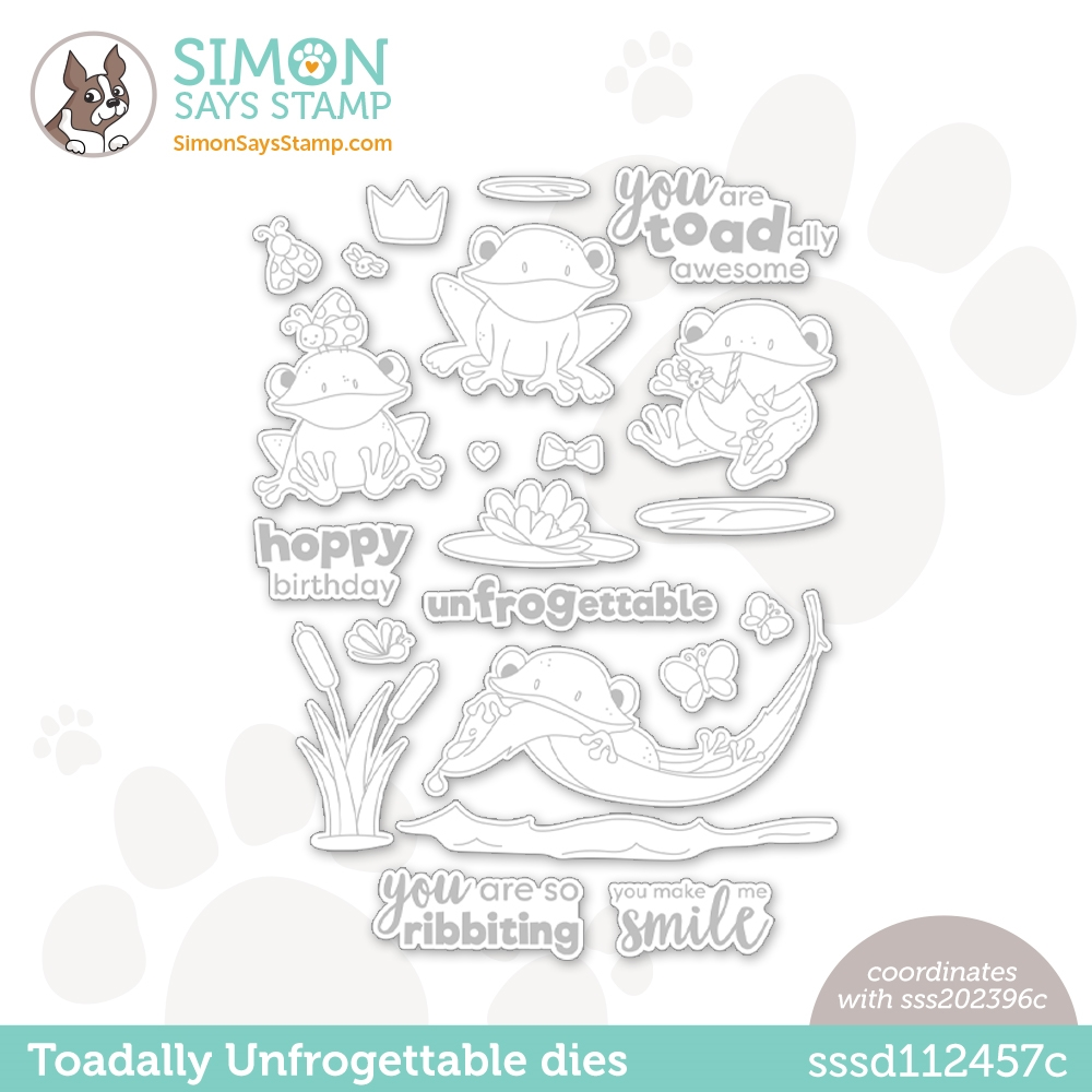 Simon Says Stamp TOADALLY UNFROGETTABLE Wafer Dies sssd112457c Make Magic zoom image