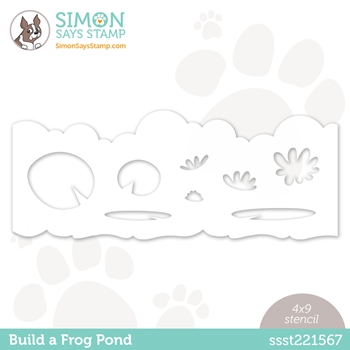 Simon Says Stamp Stencil BUILD A FROG POND ssst221567