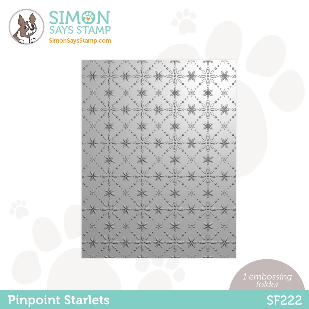 Simon Says Stamp Embossing Folder PINPOINT STARLETS sf222 zoom image