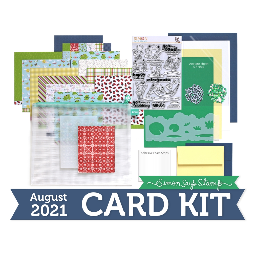 Simon Says Stamp Card Kit of the Month August 2021 TOADALLY UNFROGETTABLE ck0821 zoom image