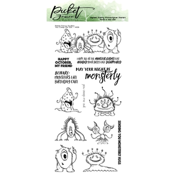 Picket Fence Studios YOU CREEP ME OUT Clear Stamps h109
