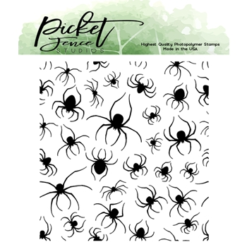 Picket Fence Studios MARCHING SPIDERS Clear Stamp h114