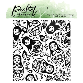 Picket Fence Studios NESTING DOLLS Clear Stamp bb171