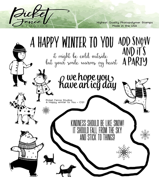 Picket Fence Studios A HAPPY WINTER TO YOU Clear Stamps c121 zoom image