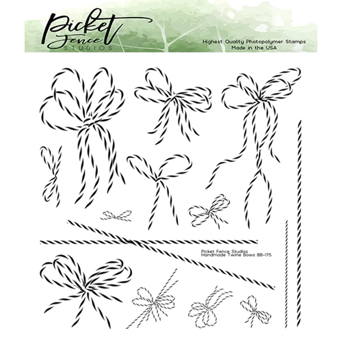 Picket Fence Studios HANDMADE TWINE BOWS Clear Stamps bb175 Preview Image