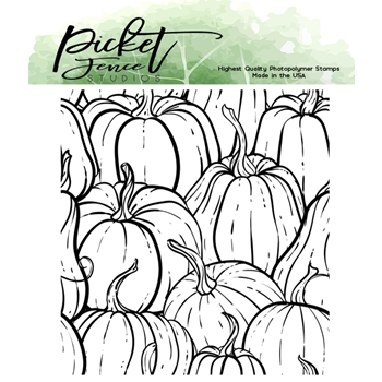 Picket Fence Studios ALL THE GOURDS Clear Stamp f148