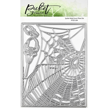 Picket Fence Studios SPIDER WEB COVER PLATE Die pfsd204