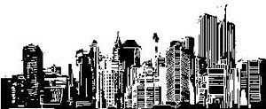 Tim Holtz Rubber Stamp CITYSCAPE City Stampers Anonymous P2-1472 Preview Image